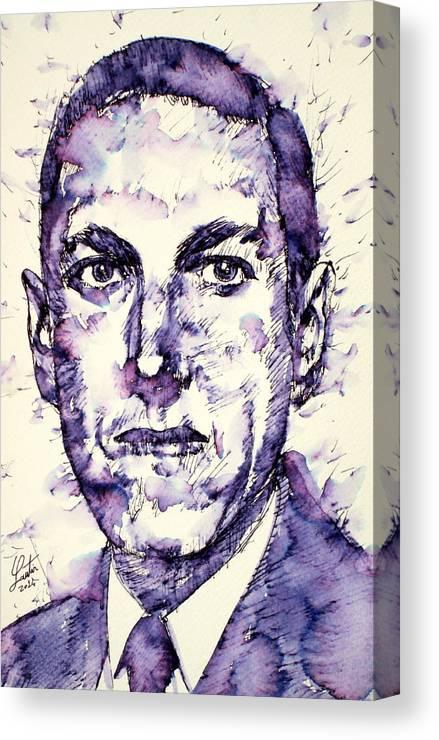 H p  Lovecraft Portrait Canvas Print