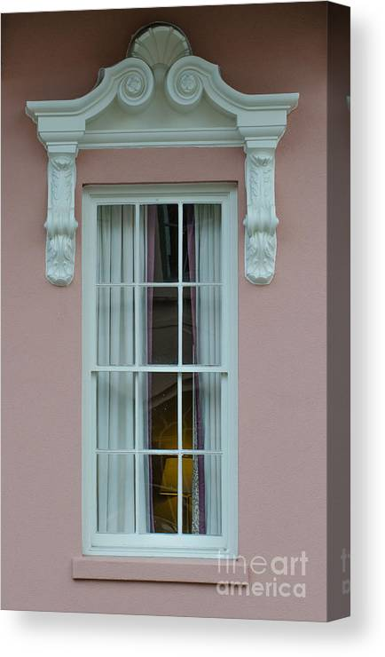 Mills House Canvas Print featuring the photograph Mills House Window by Dale Powell