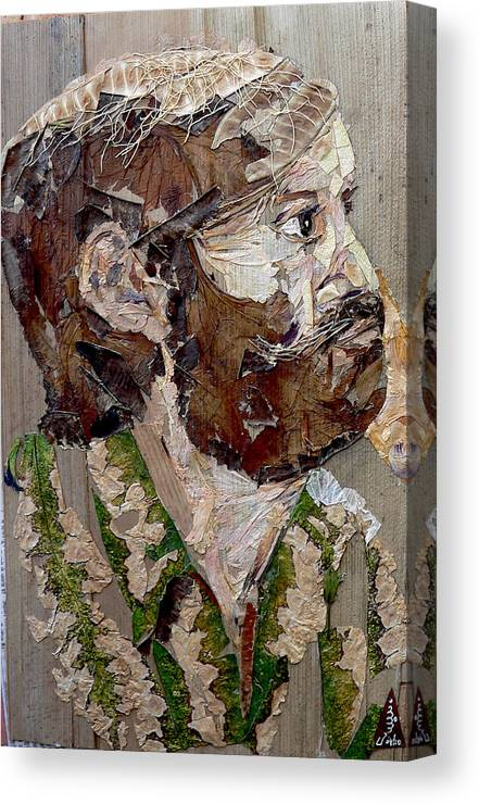Portrait Canvas Print featuring the mixed media Philospher's Vision by Basant Soni