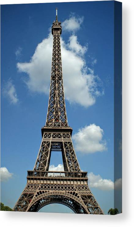 picture relating to Printable Pictures of the Eiffel Tower titled Eiffel Tower - La Excursion Eiffel Canvas Print