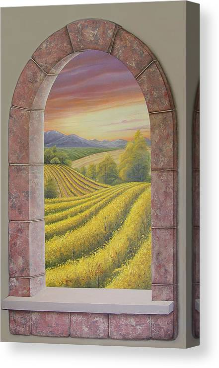 Realistic Canvas Print featuring the painting Arco Vinal by Angel Ortiz