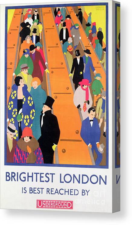 6a5acf7b4c0 Brightest London Is Best Reached By Underground Canvas Print   Canvas Art by  Horace Taylor