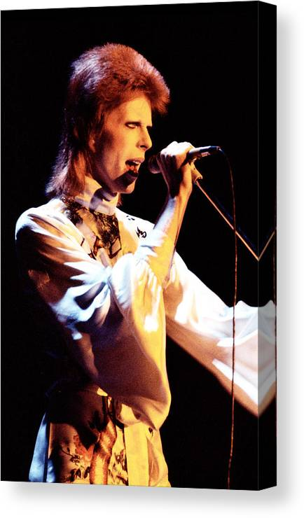 David Bowie Canvas Print featuring the photograph David Bowie 1973 by Chris Walter