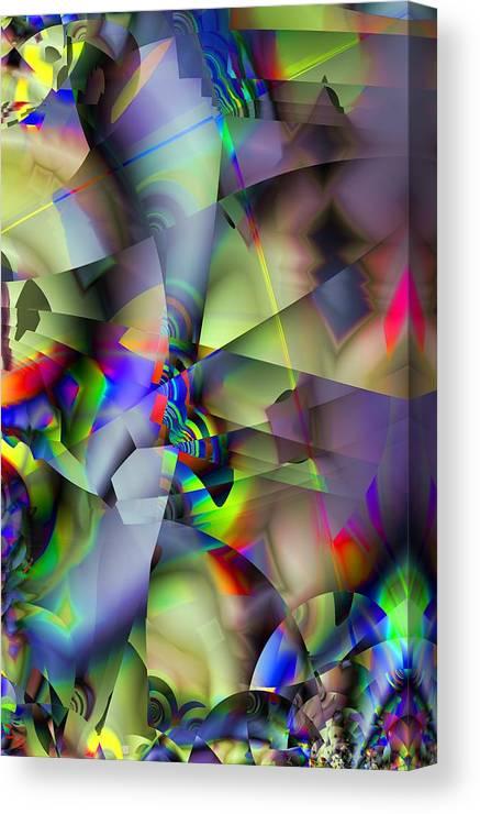 Fractal Canvas Print featuring the digital art Fractal Cubism by Ron Bissett