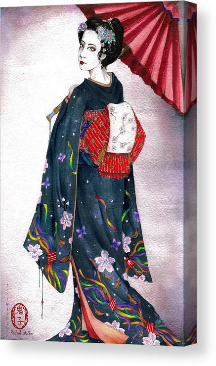 Oniko Canvas Print featuring the painting New Year's by Rachel Walker