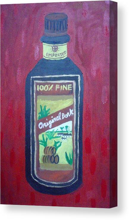 Oil On Canvas Canvas Print featuring the painting Rum by Patrice Tullai