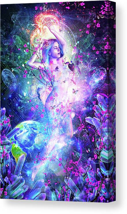 Cameron Gray Canvas Print featuring the digital art Encounter With The Sublime by Cameron Gray