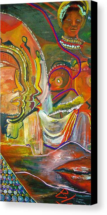 Impressionism Canvas Print featuring the painting Koulikoro Woman by Peggy Blood