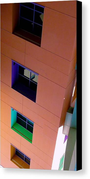 Architecture Canvas Print featuring the photograph Don't Jump by Jacqueline Howe