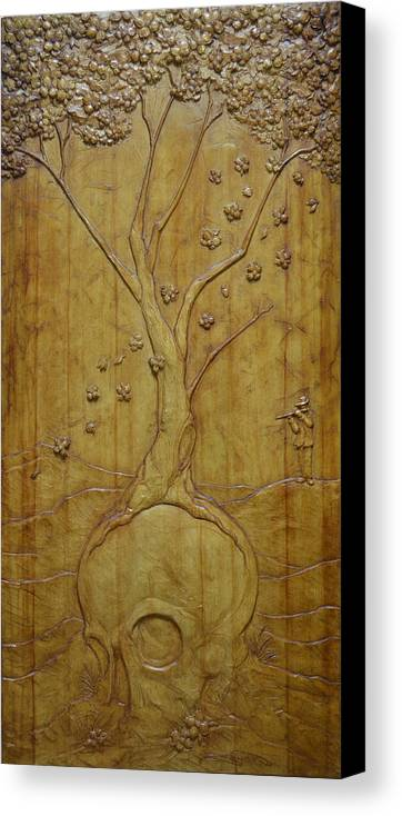 Seasons Canvas Print featuring the sculpture Transitions 1 - Winter / Spring by Jeremiah Welsh