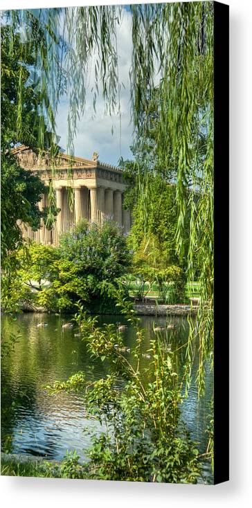 Parthenon Canvas Print featuring the photograph A View Of The Parthenon 13 by Douglas Barnett