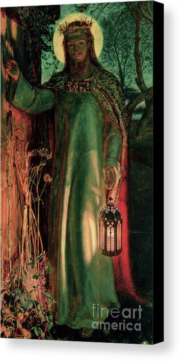Jesus Canvas Print featuring the painting The Light Of The World by William Holman Hunt
