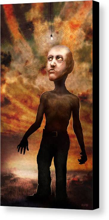 Strange Canvas Print featuring the digital art A Walk In The Wildlands by Ethan Harris
