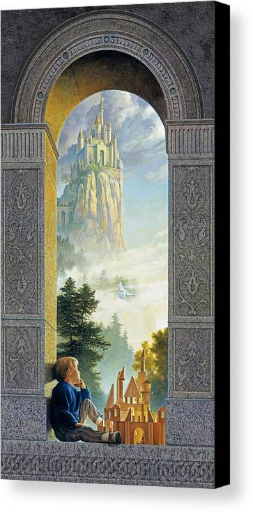 Castles Canvas Print featuring the painting Castles In The Sky by Greg Olsen