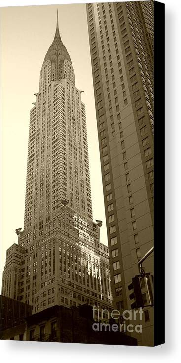 New York Canvas Print featuring the photograph Chrysler Building by Debbi Granruth