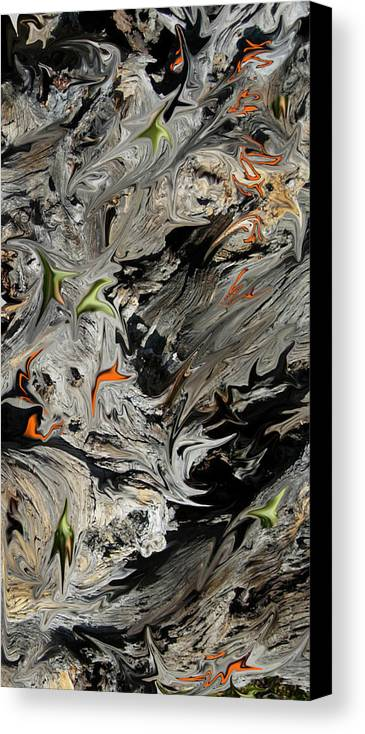 Abstract Canvas Print featuring the digital art Experiment In Turmoil by Stephanie H Johnson
