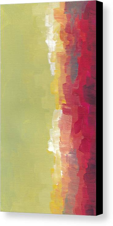 Abstract Canvas Print featuring the painting Green Sky by Chelsie Ring