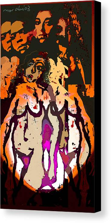 L.s Canvas Print featuring the painting Silent Dance II by Noredin Morgan
