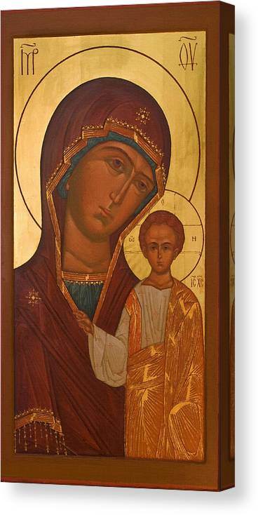 Virgin And Child Canvas Print featuring the digital art Madonna And Child Christian Art by Carol Jackson