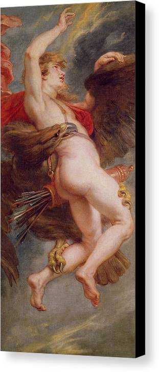 The Rape Of Ganymede Canvas Print featuring the painting The Rape Of Ganymede by Rubens
