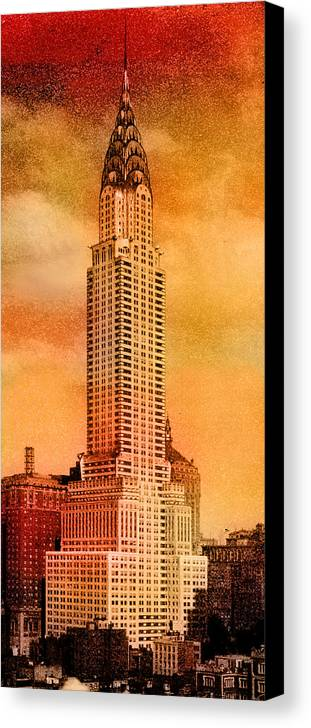 Chrysler Building Canvas Print featuring the photograph Vintage Chrysler Building by Andrew Fare