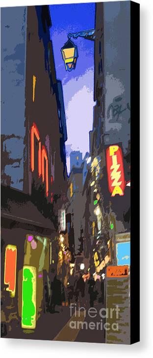 Paris Canvas Print featuring the photograph Paris Quartier Latin 01 by Yuriy Shevchuk