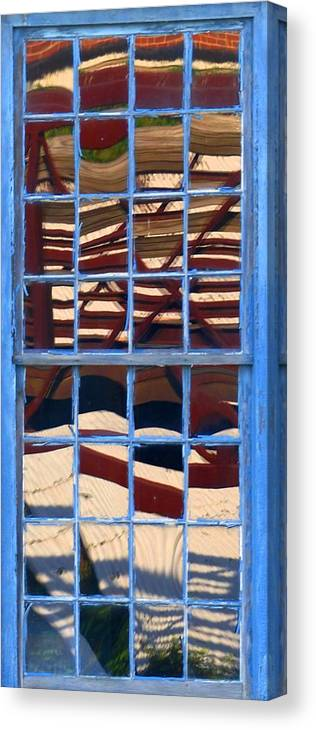 Abstract Canvas Print featuring the photograph Blue Window by Charles Ford