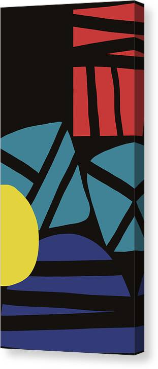 Abstract Canvas Print featuring the digital art Colorful Bento 3- Art By Linda Woods by Linda Woods