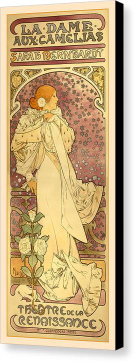 Antique Canvas Print featuring the digital art La Dame by Gary Grayson