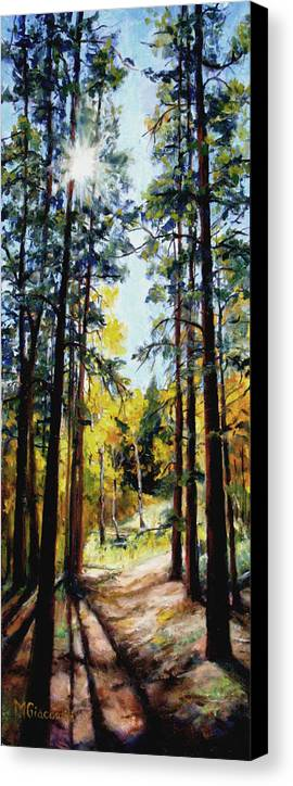 Trees Canvas Print featuring the painting Solitude by Mary Giacomini