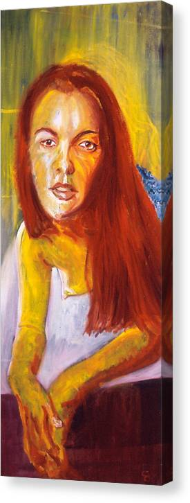 Portrait Canvas Print featuring the painting Ella I by LB Zaftig