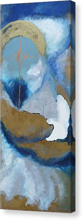Love Canvas Print featuring the painting The Kiss by Erika Brown