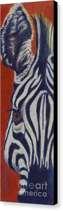 Zebra Canvas Print featuring the pastel African Stripes by Tracy L Teeter