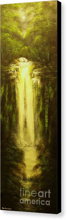 Waterfall Canvas Print featuring the painting High Falls-original Sold-buy Giclee Print Nr 37 Of Limited Edition Of 40 Prints  by Eddie Michael Beck