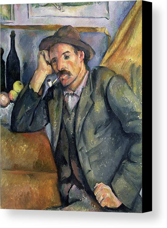 Pipe Canvas Print featuring the painting The Smoker by Paul Cezanne