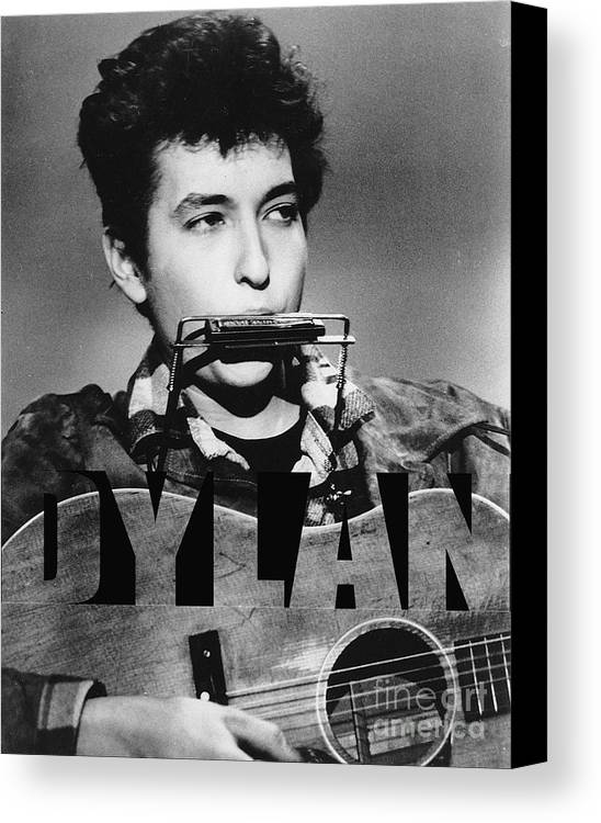 Bob Dylan Art Canvas Print featuring the mixed media Bob Dylan by Marvin Blaine