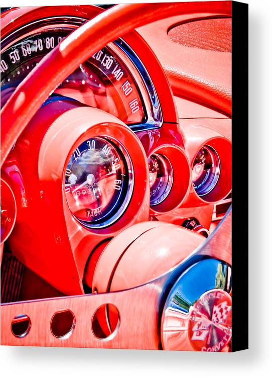 Corvette Speedo Canvas Print featuring the photograph 1950s Corvette by Phil 'motography' Clark
