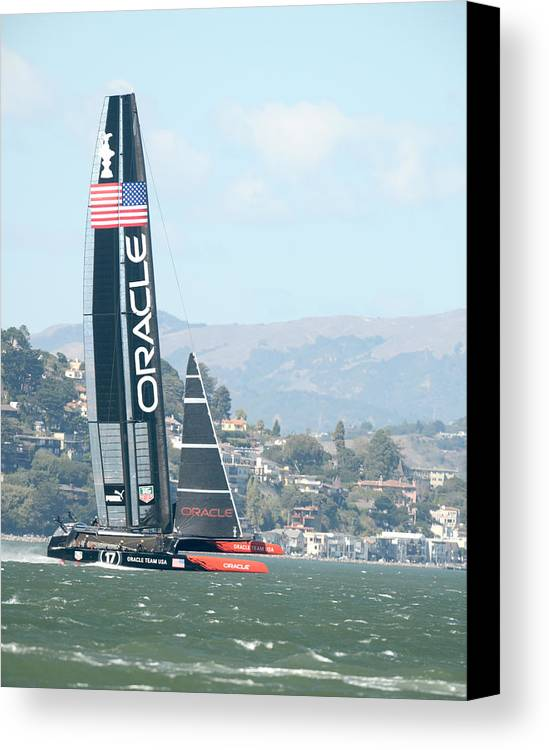 9-25-2013 Canvas Print featuring the photograph Oracle Team Usa by Gary Hromada