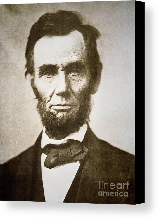 Abraham Canvas Print featuring the photograph Abraham Lincoln by Alexander Gardner