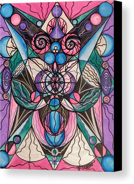 Arcturian Healing Lattice Canvas Print featuring the painting Arcturian Healing Lattice by Teal Eye Print Store