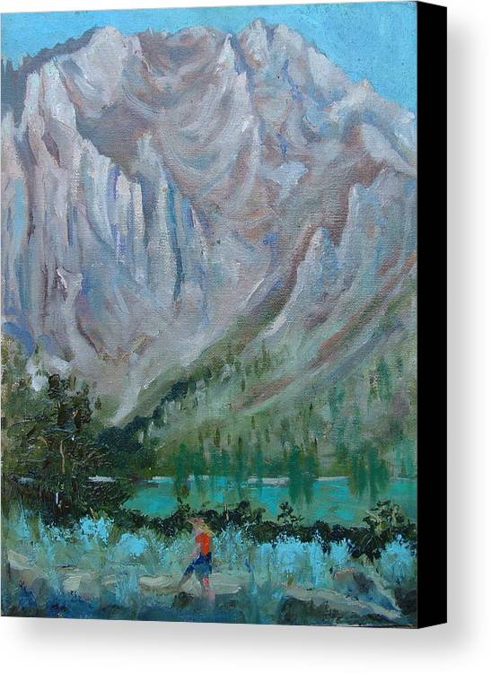 Landscape Canvas Print featuring the painting Bear Bait by Bryan Alexander