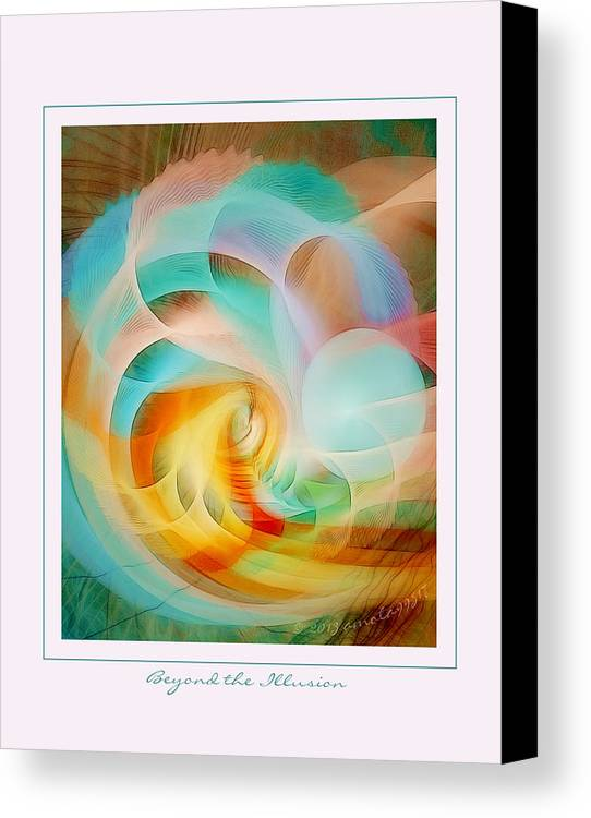 Fractal Canvas Print featuring the digital art Beyond The Illusion by Gayle Odsather