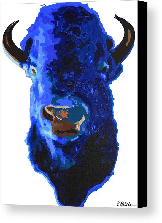 Painting Canvas Print featuring the painting Blue Buffalo by Boughton Walden