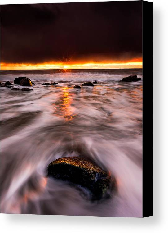 Sunset Canvas Print featuring the photograph Chasing The Sunset by Alexis Birkill