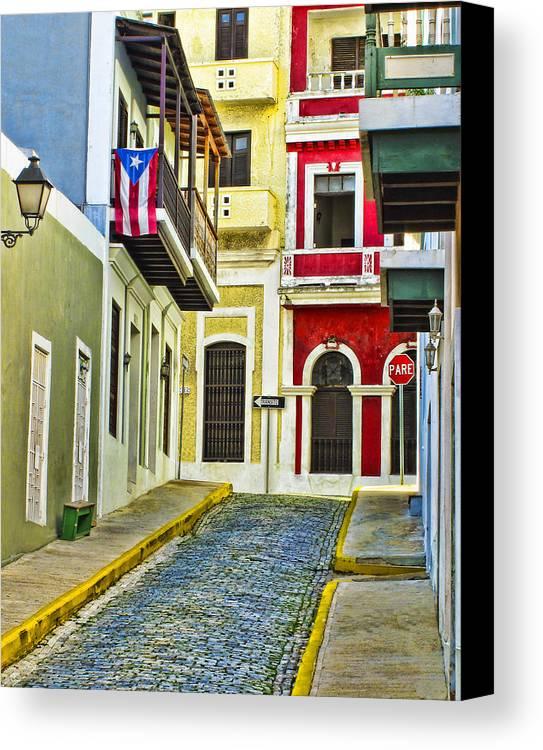 Colors Of Old San Juan Puerto Rico Canvas Print Canvas