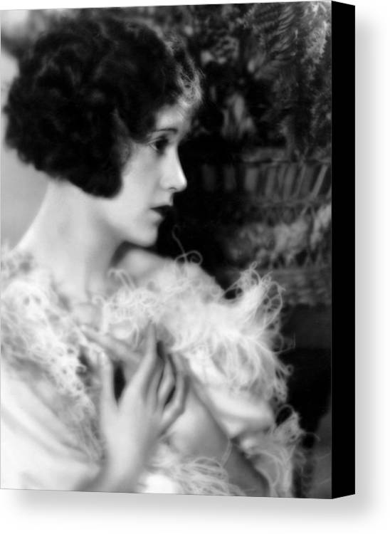 1920s Hairstyles Canvas Print featuring the photograph Constance Talmadge, Ca. 1920 by Everett