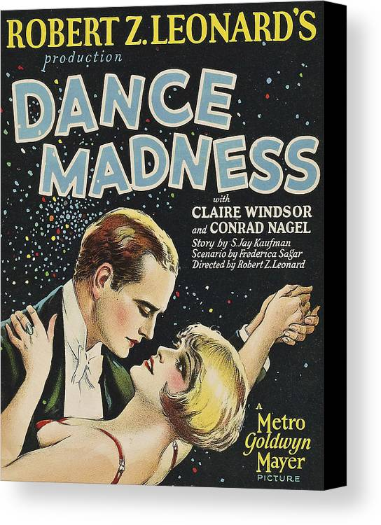 1920s Movies Canvas Print featuring the photograph Dance Madness, From Left Conrad Nagel by Everett