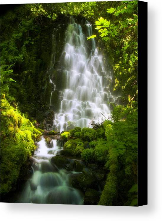 Waterfall Canvas Print featuring the photograph Dancing In The Sunlight by Jon Ares