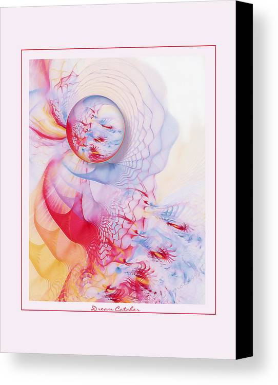 Fractal Canvas Print featuring the digital art Dream Catcher by Gayle Odsather