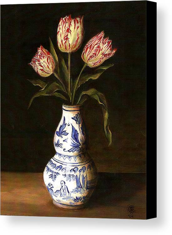 Dutch Still Life Canvas Print featuring the painting Dutch Still Life by Teresa Carter
